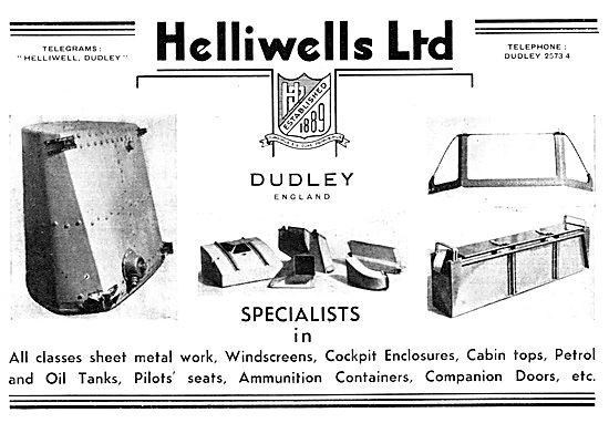 Helliwells Aircraft Sheet Metal Work &  Assemblies
