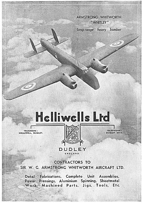 Helliwells. Dudley. Aviation Fabrications, Assemblies, Pressingg