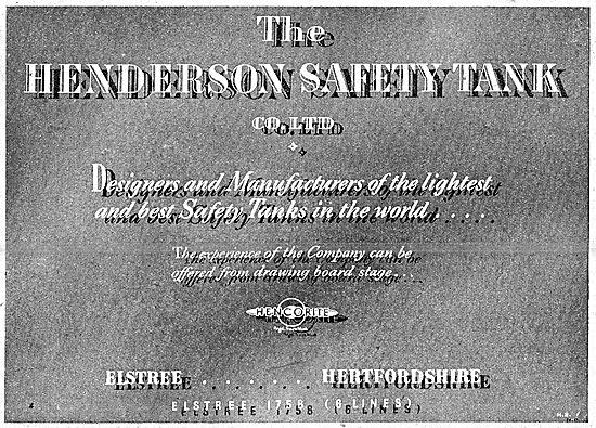 Henderson Safety Tank