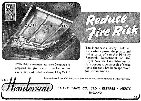 Henderson Safety Tank Co: Crashproof Fuel Tanks
