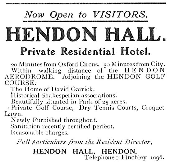 Hendon Hall Private Residential Hotel - Close To Aerodrome