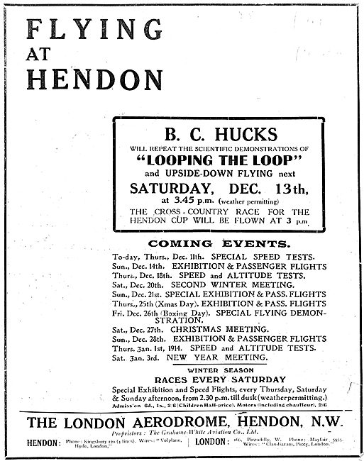See Hucks Looping The Loop At Hendon