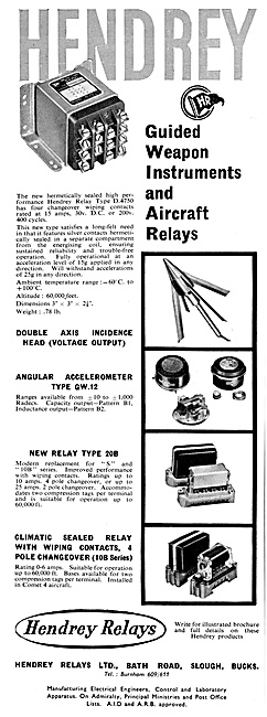 Hendrey Relays For Aircraft:& Missiles 1960