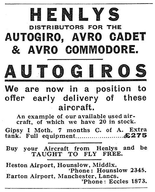 Henlys - Heston & Barton. Aircraft Sales