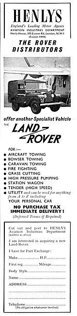 Henlys Land Rover
