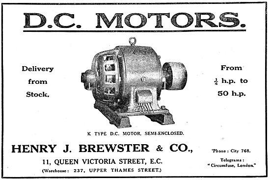 Henry Brewster K Type D.C.Motors