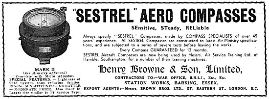 Henry Browne Sestrel Aircraft Compass 1933