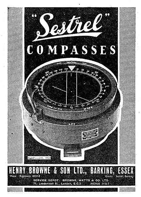 Henry Browne Sestrel Aircraft Compasses