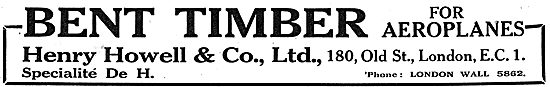 Henry Howell & Co Ltd - Bent Timber For Aircraft