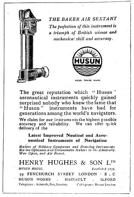 Henry Hughes Husun Baker Air Sextant 1919