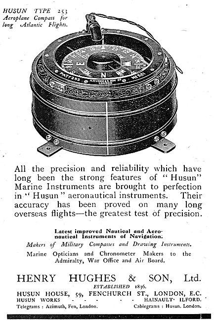 Henry Hughes Husun Type 253 Aeroplane Compass