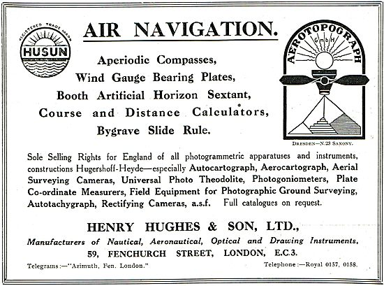 Henry Hughes Husun Aperiodic Aircraft Compasses
