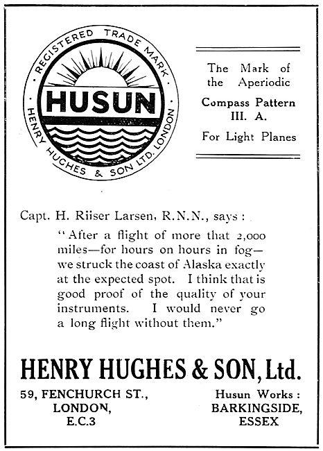 Henry Hughes HUSUN Aperiodic Compass 1929