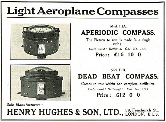 Henry Hughes Mark IIIA  Aperiodic Aircraft Compass £16 10s 0d