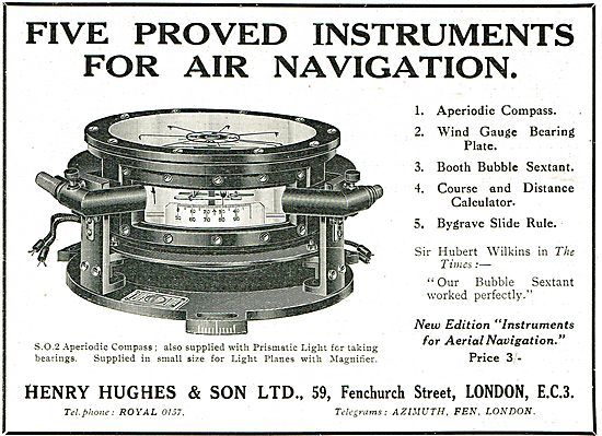 Henry Hughes - 5 Approved Instruments For Air Navigation