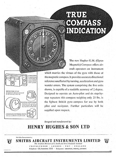 Henry Hughes (Smiths) Hughes GM Gyro-Magnetic Compass
