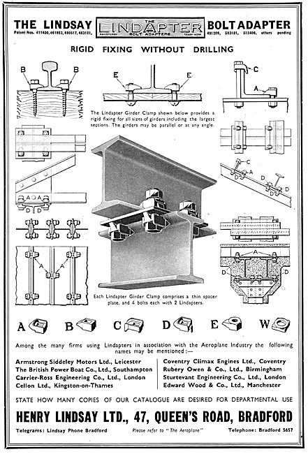 Henry Lindsay Ltd : Lindapter Factory Fittings