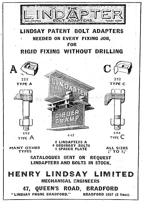 Henry Lindsay Ltd : Lindapter Constructional Bolt Adapters