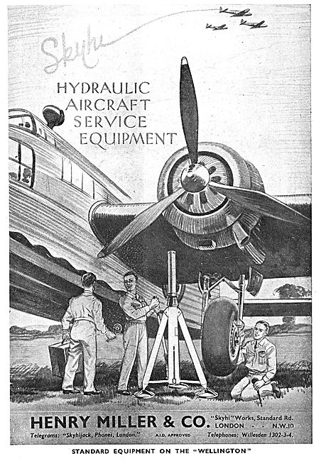 Henry Miller And Co : Skyhi Aircraft Jacks & Servicing Equipment