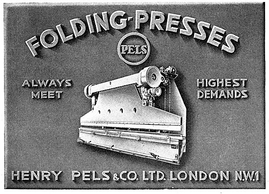 Henry Pels & Co: Machine Tools. Folding Presses