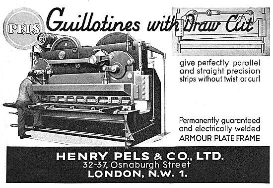 Pels Industrial Guillotines 1939
