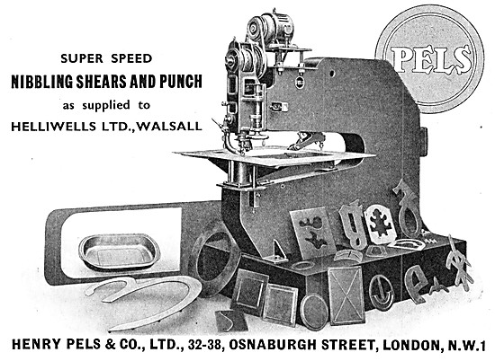 Henry Pels Nibbling Shears & Punch. Pels Machine Tools