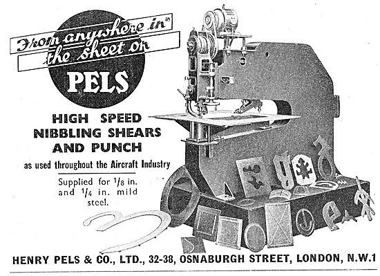 Henry Pels & Co: Machine Tools - Nibbling Shears & Punch