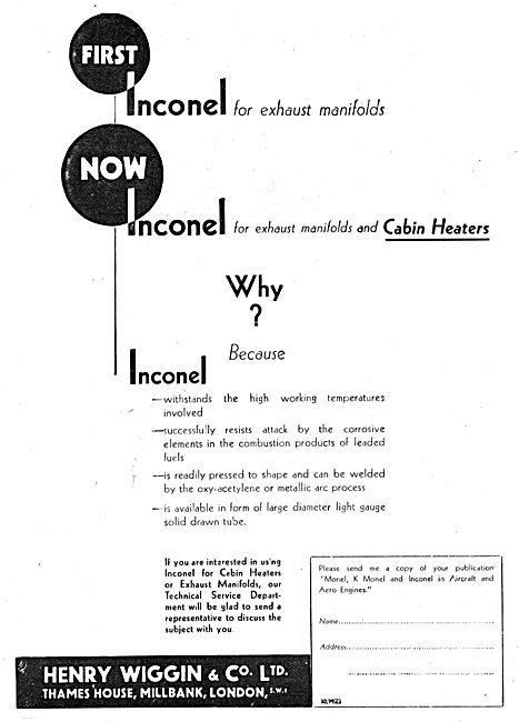 Henry Wiggin Nimonic Alloys - INCONEL