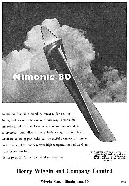 Henry Wiggin Nimonic Alloys - Nimonic 80