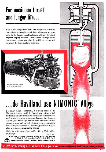 Henry Wiggin Nimonic Alloys 1960