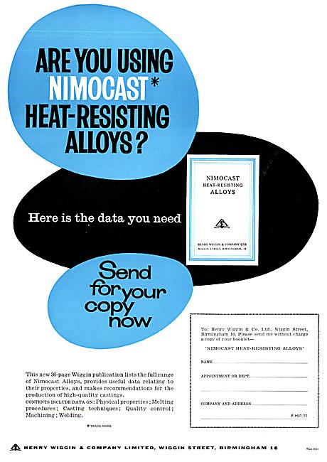 Henry Wiggin Nimonic Alloys - NIMOCAST Heat-Resisting Alloys