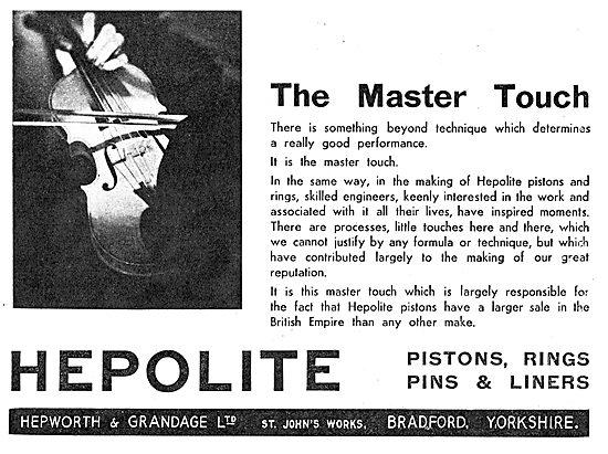 Hepolite Aero Engine Pistons, Rings & Liners