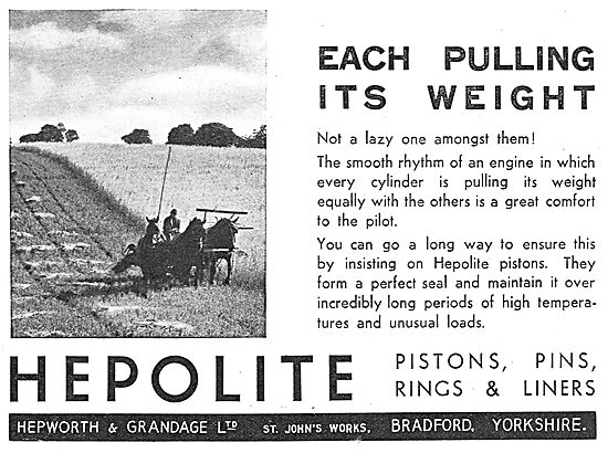 Hepolite Pistons, Piston Rings, Liners & Pins For Aero Engines