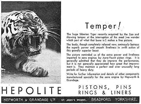 Hepolite Pistons, Piston Rings & Gudgeon Pins For Aero Engines