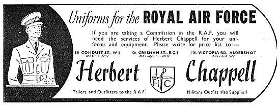 Herbert Chappell RAF Officers Uniforms