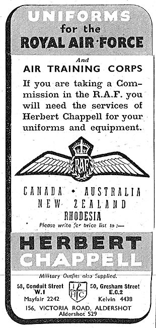 Herbert Chappell Tailors & Military Outfitters RAF Uniforms