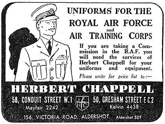Herbert Chappell RAF Uniforms