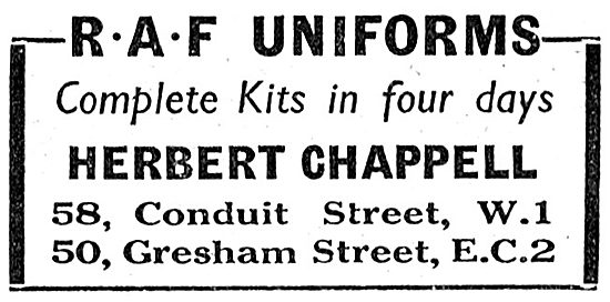 Herbert Chappell RAF Uniforms 1943 Advert