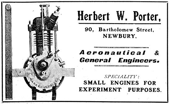 Herbert W.Porter Aeronautical & General Engineers. Aero Engines