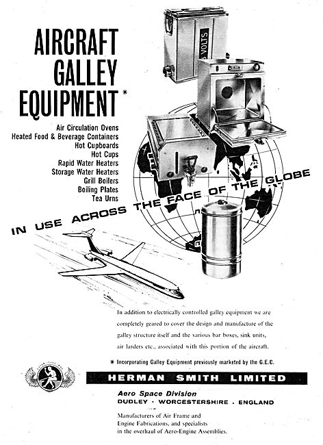 Herman Smith Aircraft Galley Equipment 1965