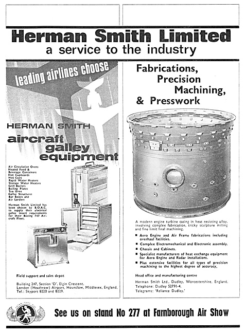 Herman Smith Aircraft Galley Equipment & Sheet Metal Work