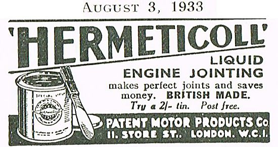 Hermeticoll Liquid Engine Jointing Compound