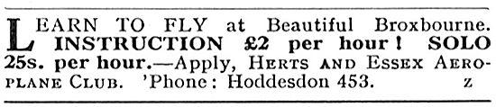 Herts And Essex Aeroplane Club, Broxbourne.