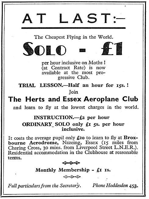 Herts & Essex Aero Club 1933