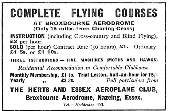Herts & Essex Aero Club - Complete Flying Training Courses