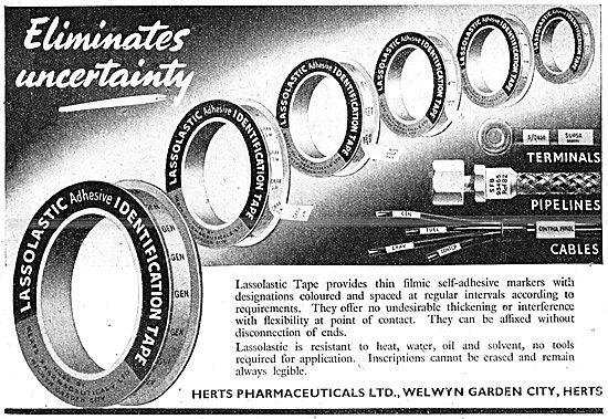 Herts Pharmaceuticals Lassolastic Cable Identification Tape