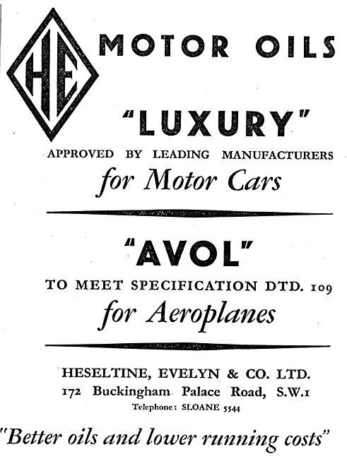 Heseltine Evelyn AVOL DTD 109 Aero Lubricant