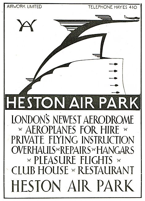 Heston Air Park - List Of Facilities