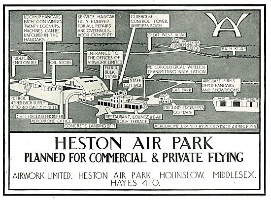 Heston Air Park - Planned For Commercial & Private Flying