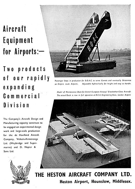 Heston Aircraft : Passenger Steps - Maintenance Docks